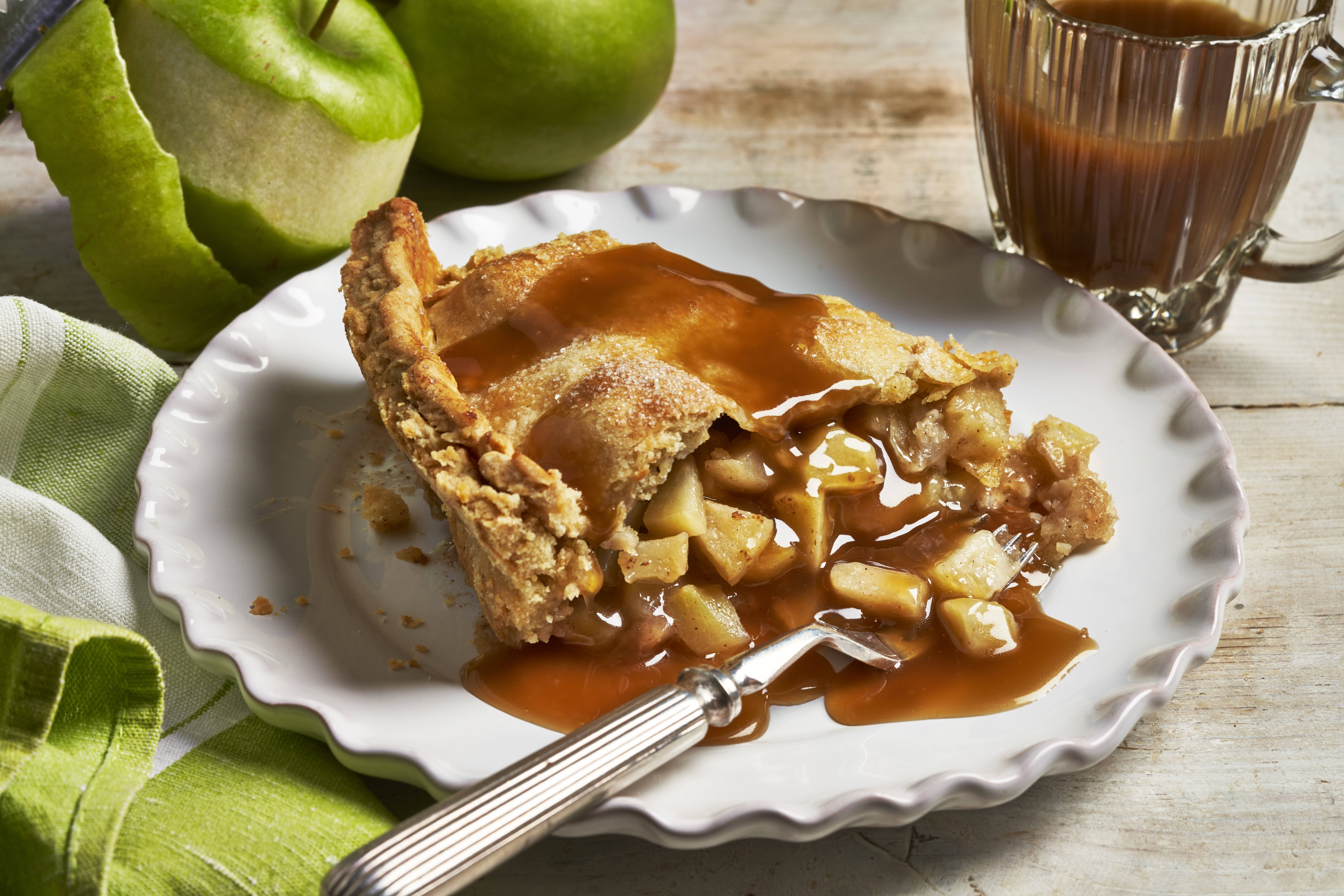 recipe image Vegan Salted Caramel Apple Pie