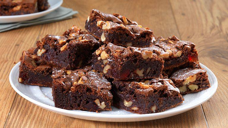 recipe image Squidgy Chocolate and Cherry Brownies