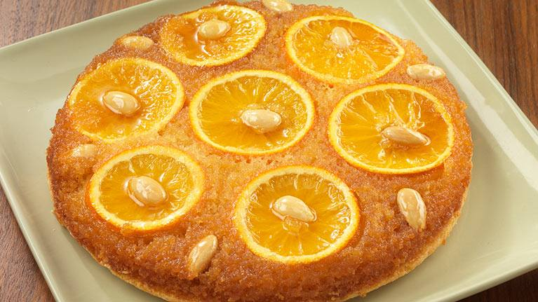 recipe image Orange and Almond Upside Down Pudding