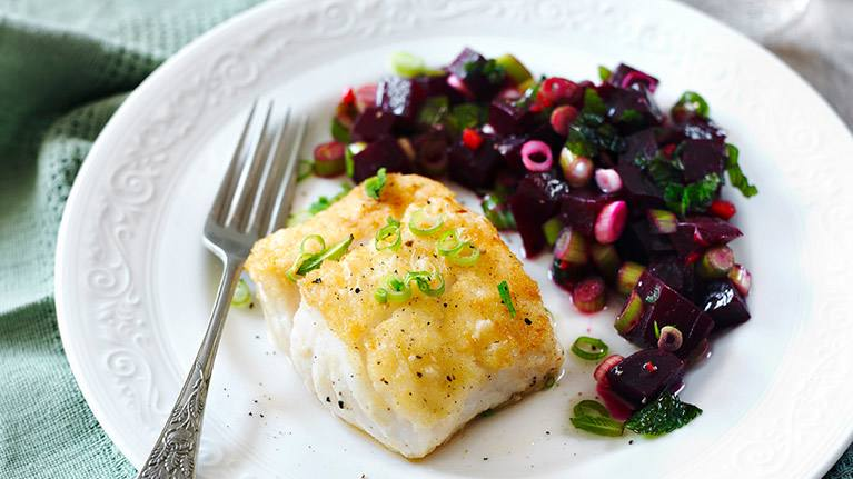 recipe image Fresh Fish with Colourful Beetroot Salsa