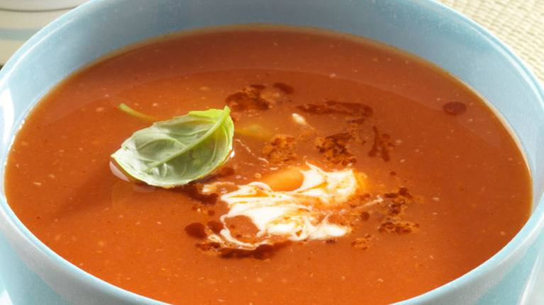 recipe image Tomato Soup with Red Pesto