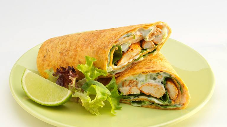 recipe image Chicken Tikka Wrap