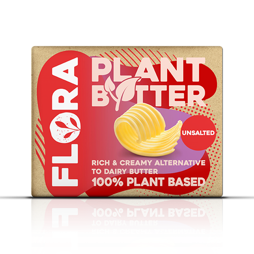 Flora Plant, unsalted, 250g, block packaging