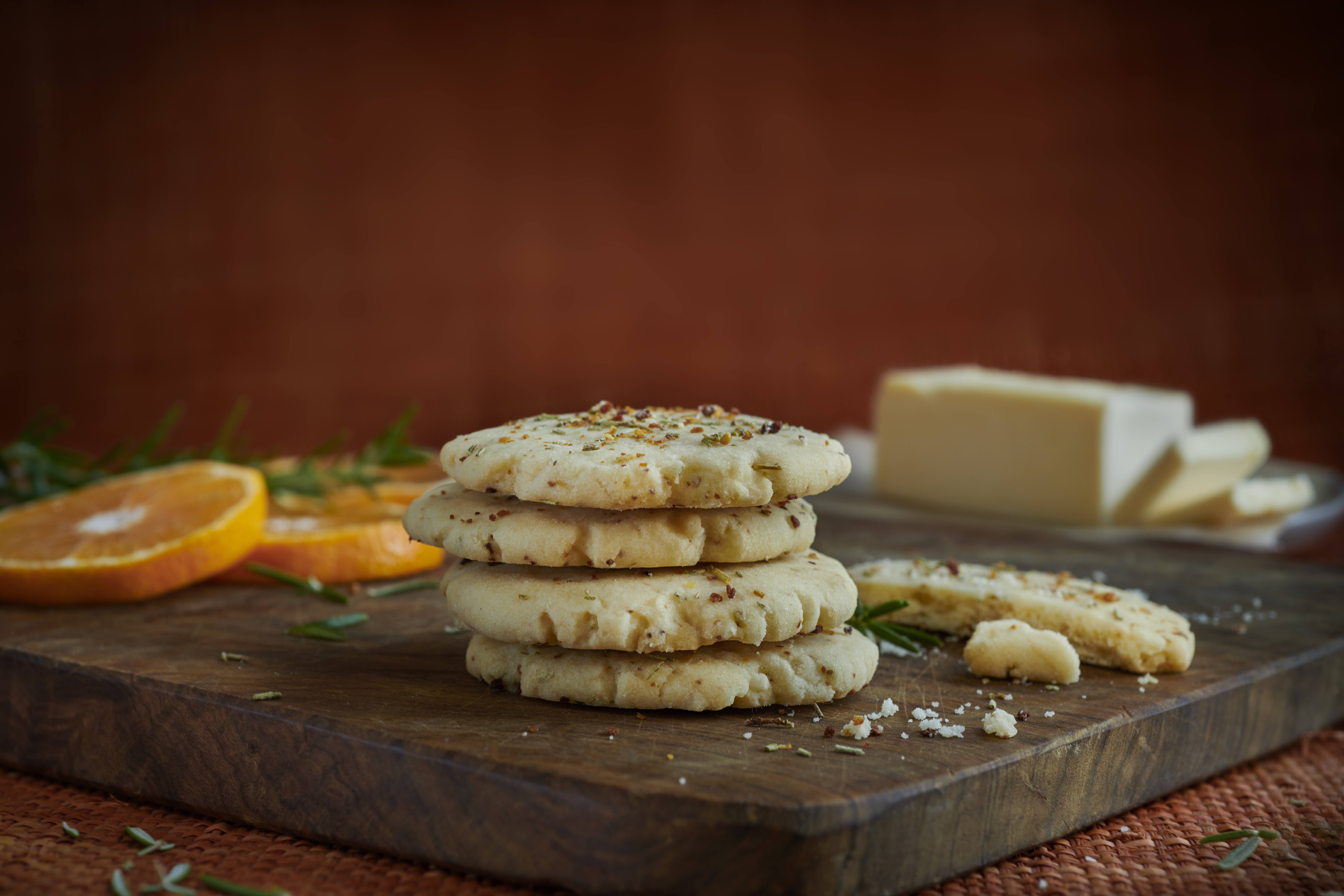 recipe image Rosemary Orange Shortbread Cookies