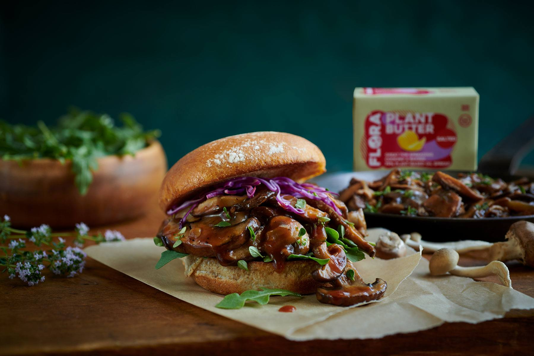 recipe image Pulled Mushrooms with Bourbon Molasses Barbecue Sauce